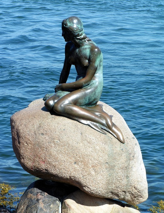 denmark, little mermaid, tourist attraction