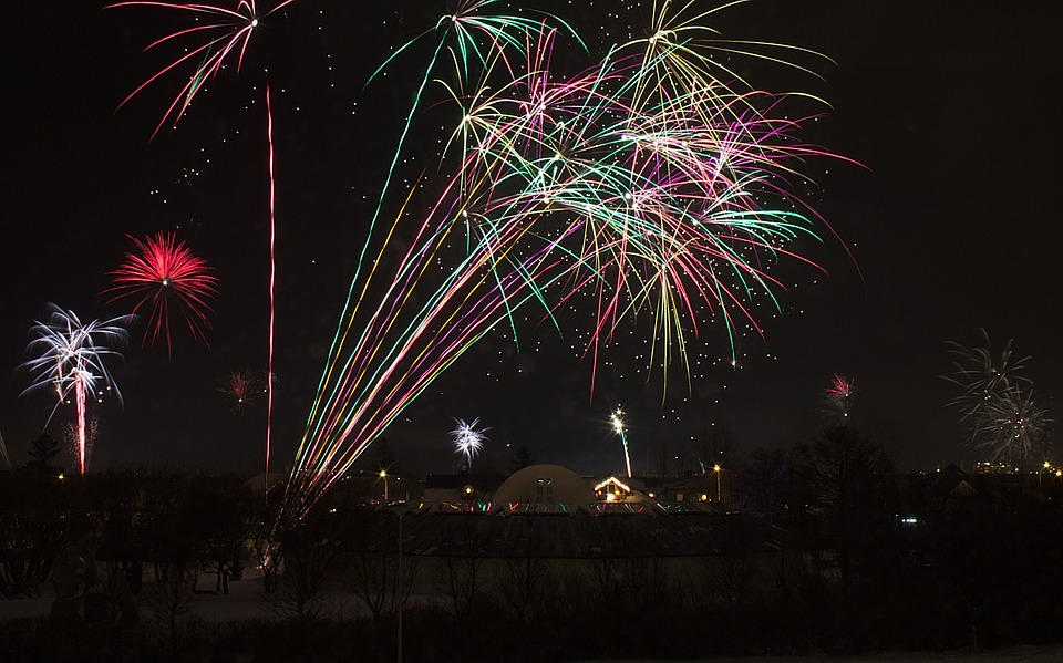 firework, new year, holiday