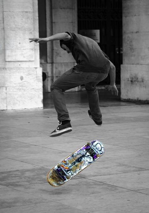 skateboard, urban, street