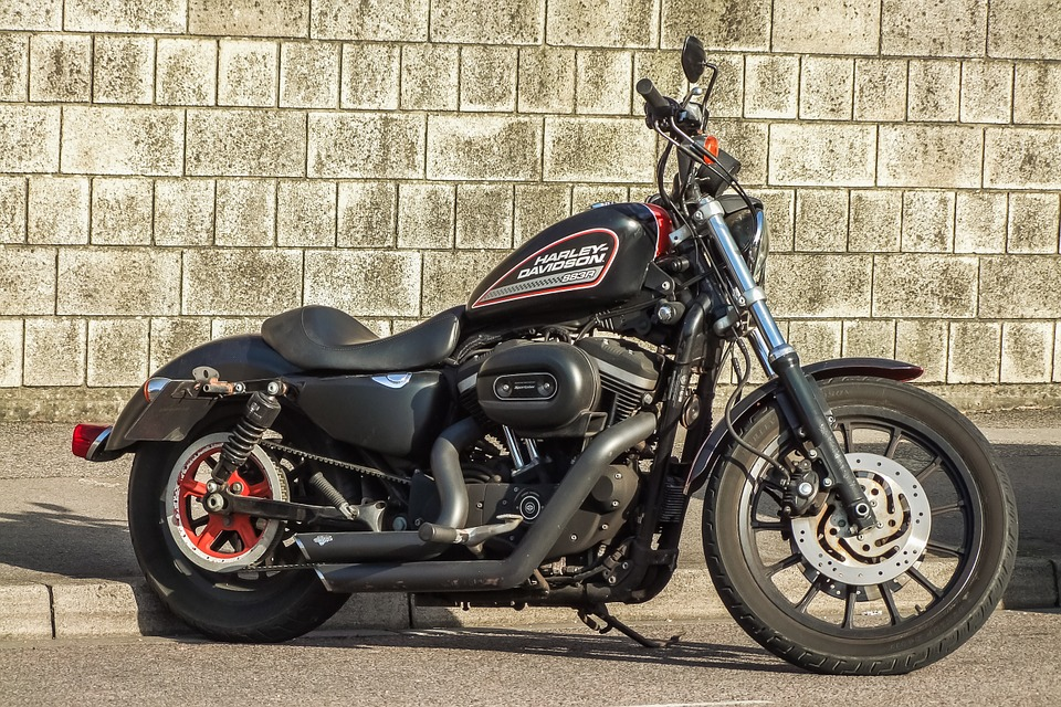 motorbike, bike, harley davidson