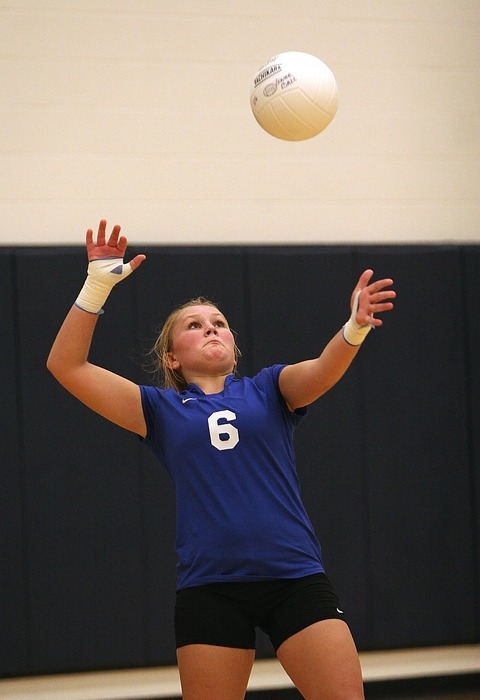 volleyball, action, serve