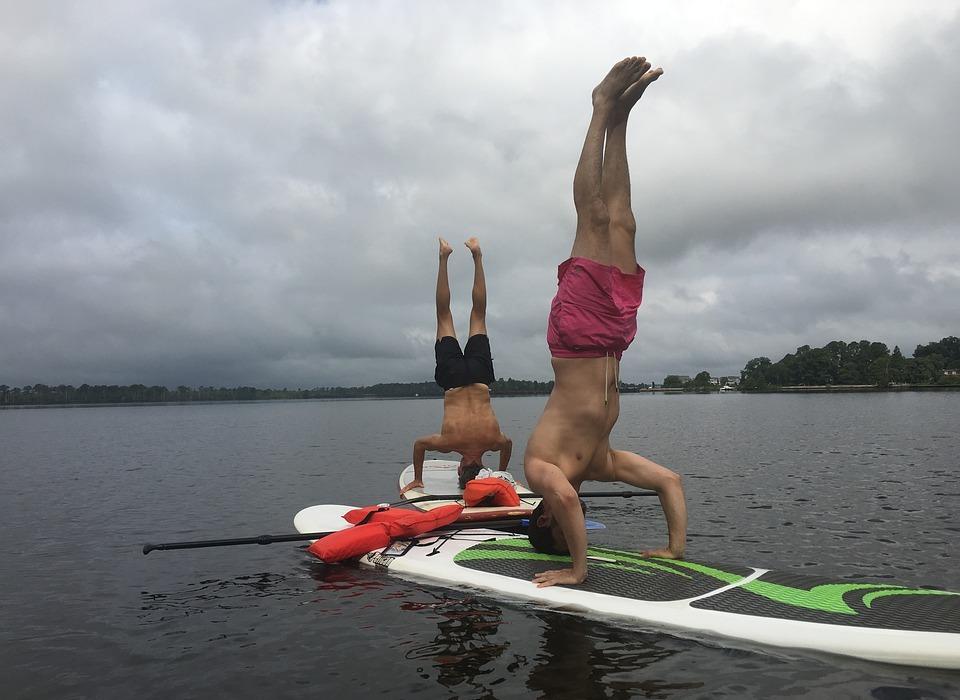 yoga, paddleboard, paddleboarding