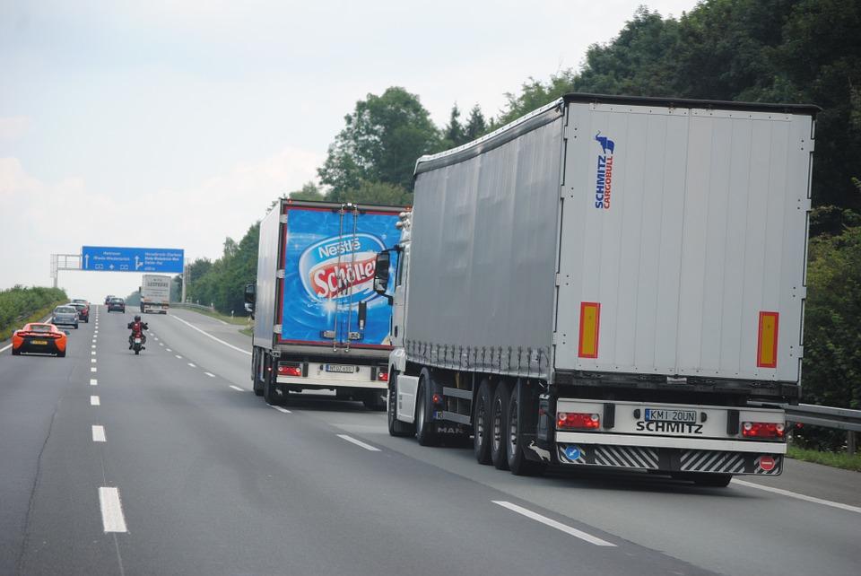 remote traffic, truck, transport of goods