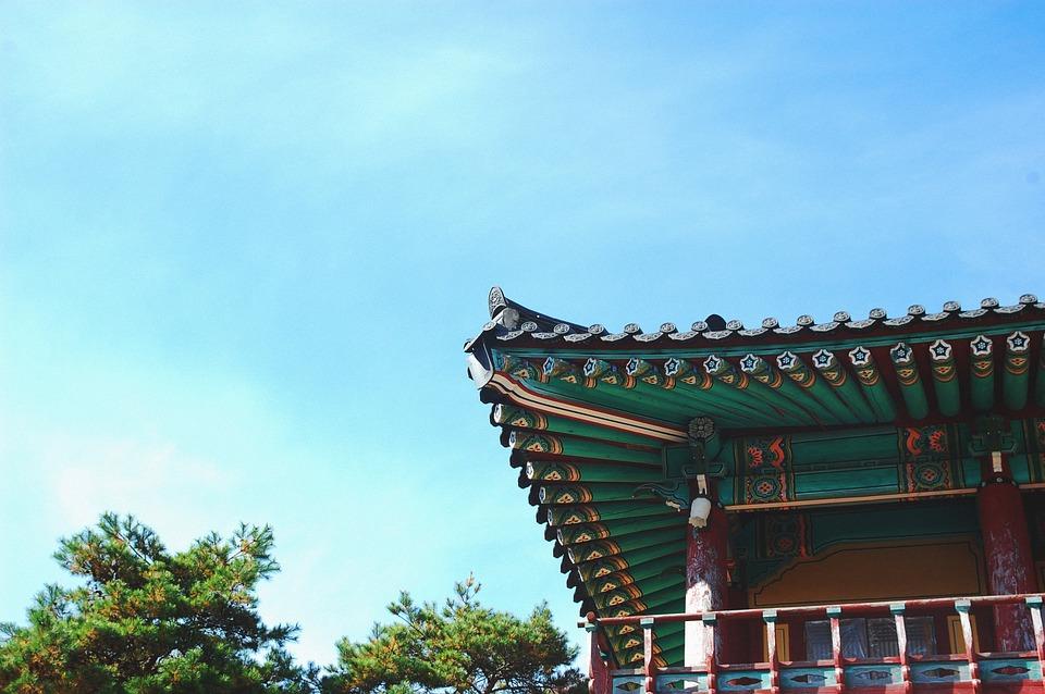 temple, architecture, blue