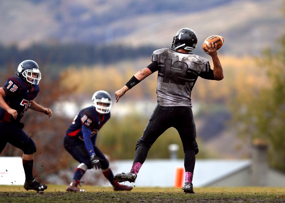 american football, football, football field