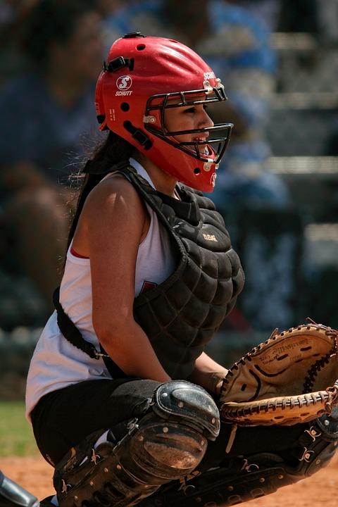 softball, catcher, female