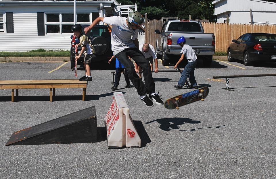 skateboard, boys, ramp
