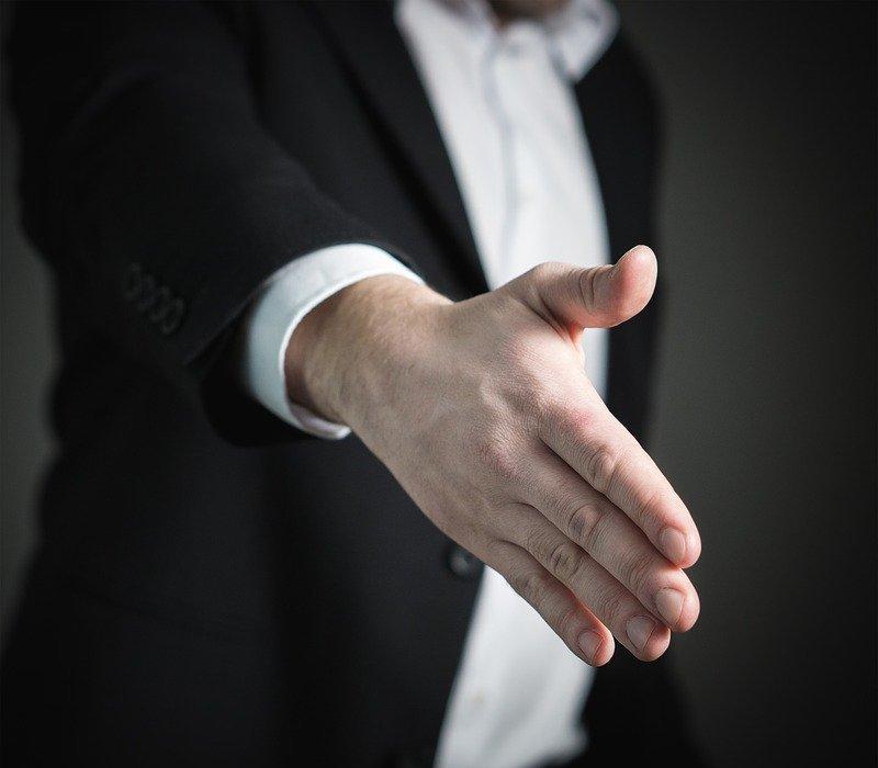 handshake, hand, give