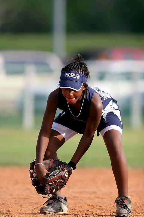 softball, girls, game