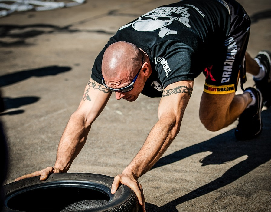 tyre push, tyre workout, training