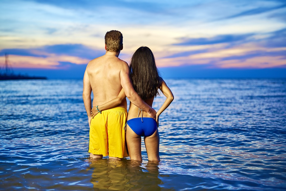 couple, in love, beach