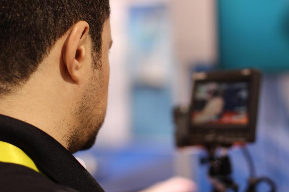 television, cameraman, video