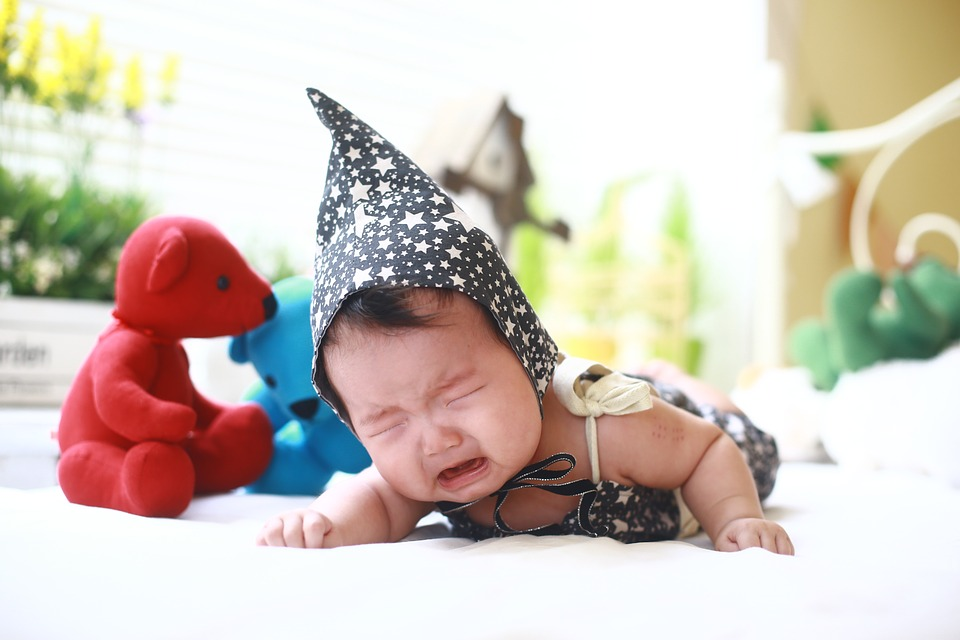 baby, crying baby, cute