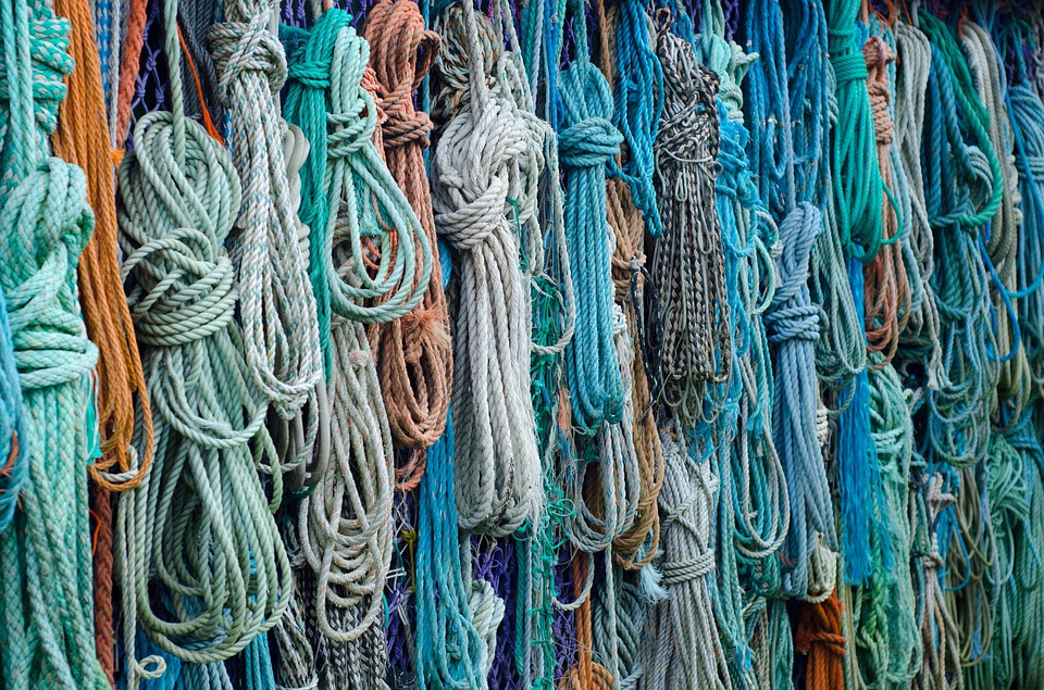 ropes, fishing, beachcombing