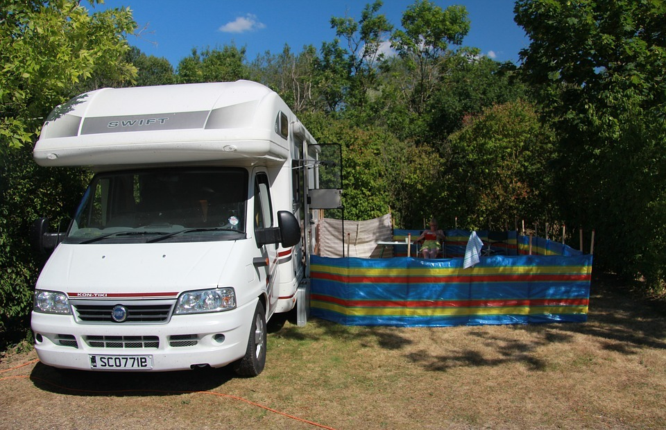 camper van, camping, france