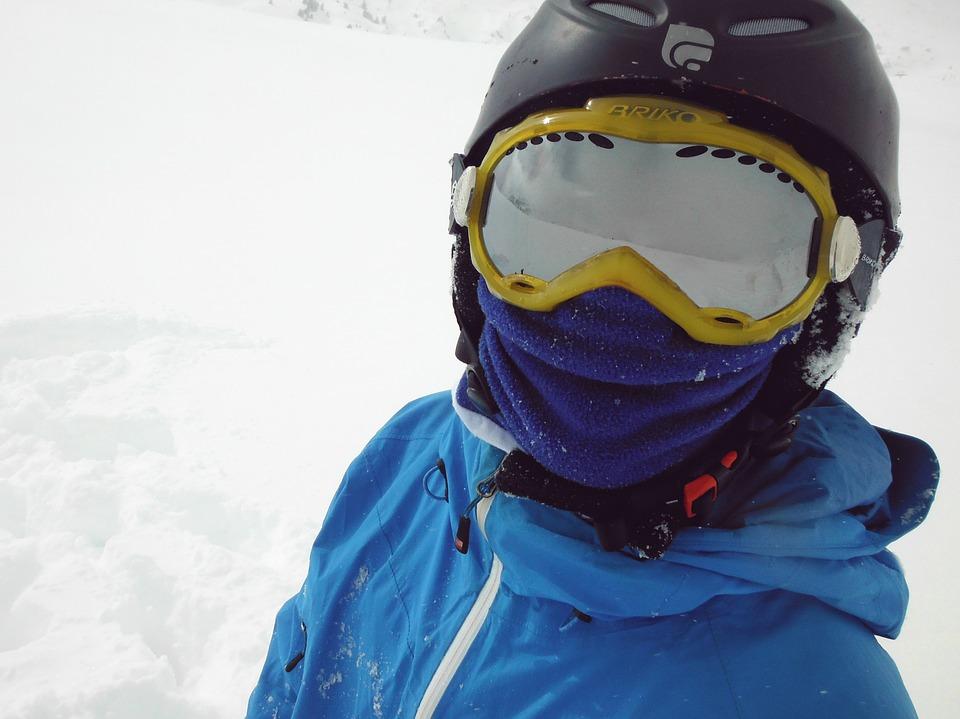 ski, snow, blue