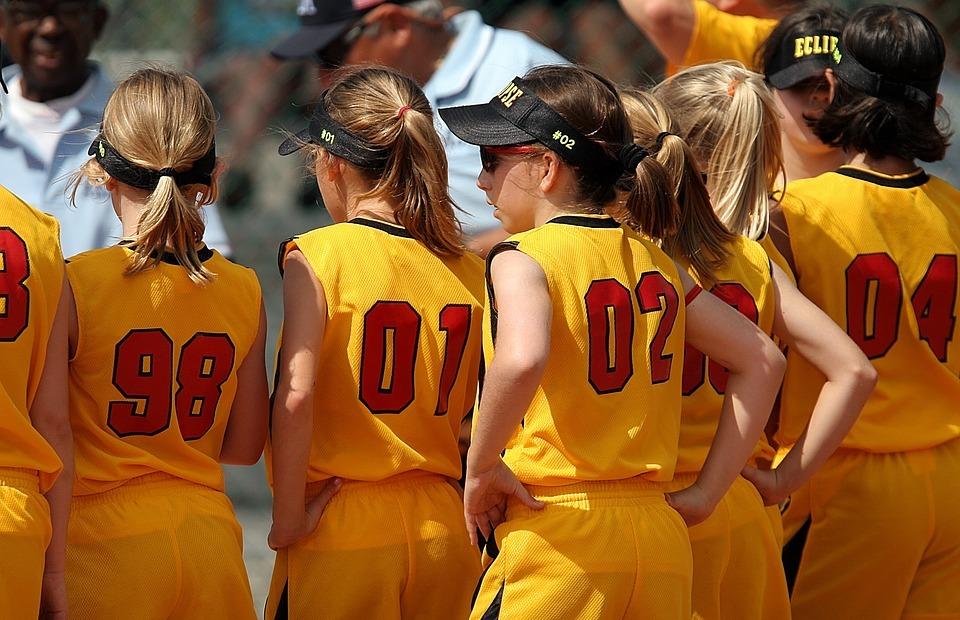 softball, team, girls