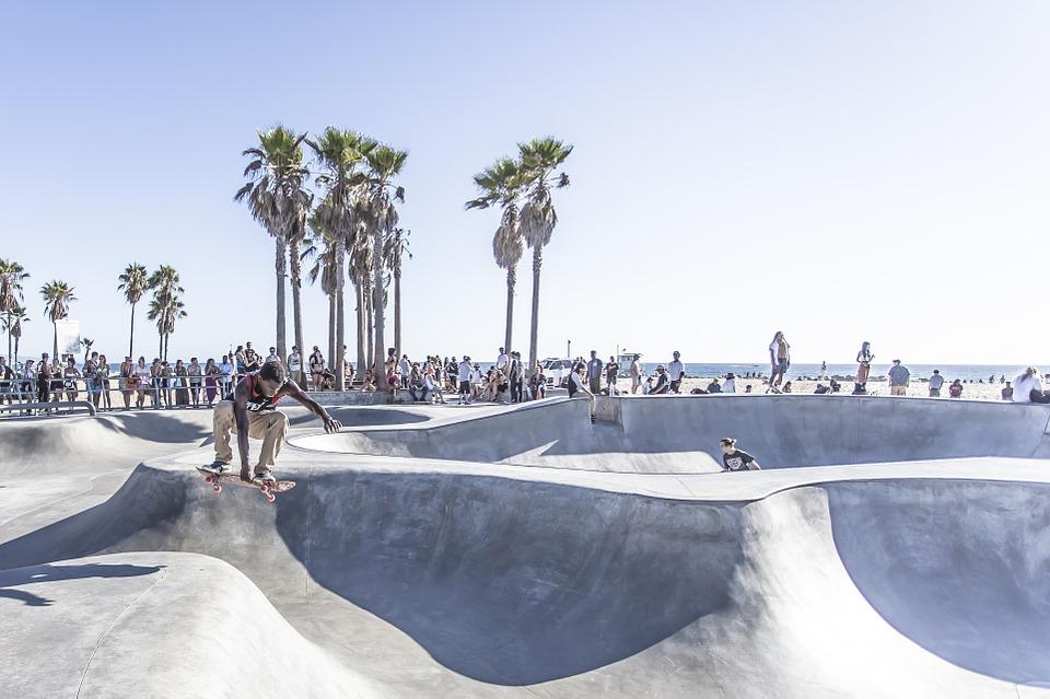 skateboard park, acrobatic, skateboard