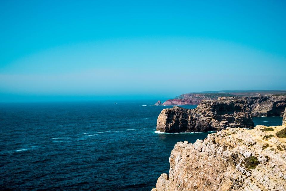 cliff, rock, ocean