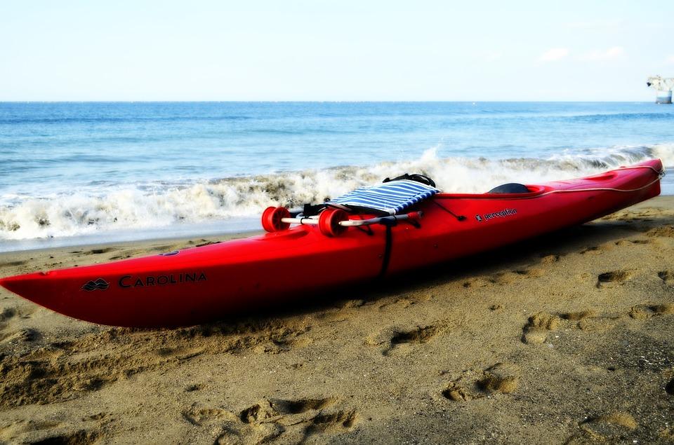 kayak, shore, sea
