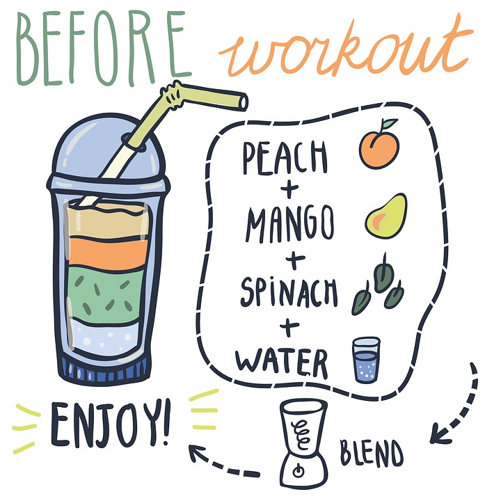 workout, smoothie, drink