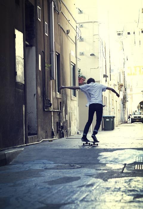 skateboard, city, sydney