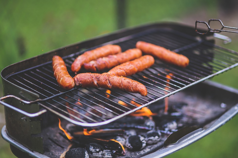 food, meal, sausage