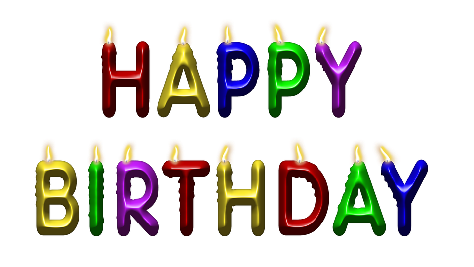 happy birthday, candles, png