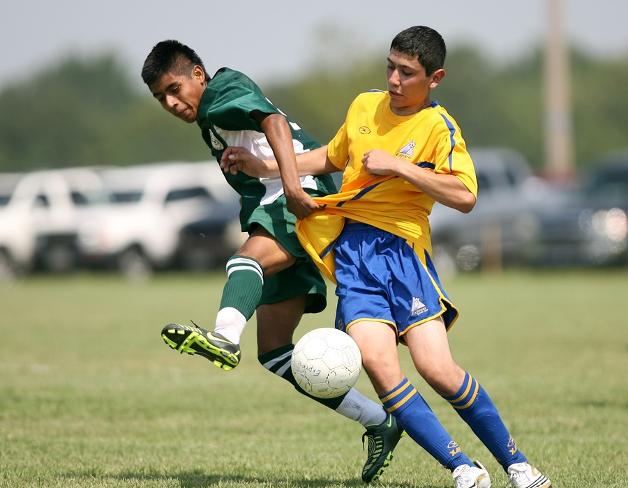 soccer, football, action