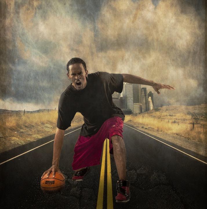 basketball, player, angry