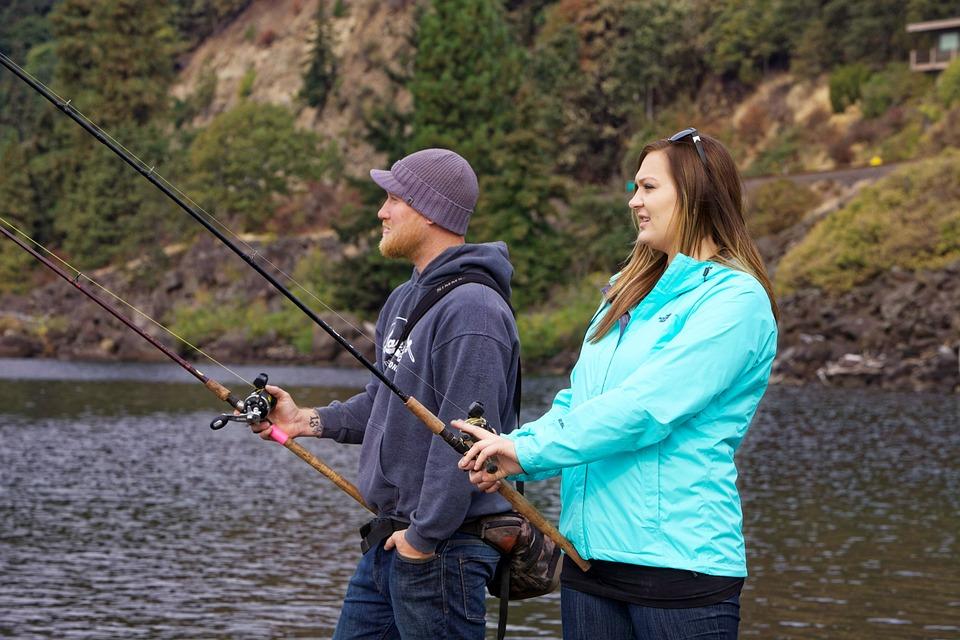 anglers, fishing, salmon