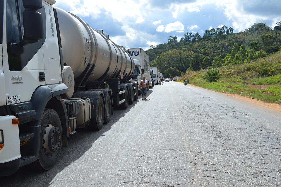 truck, brazil, road