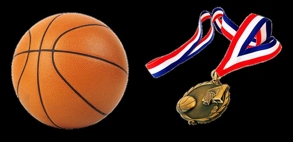 ball, basketball, medal