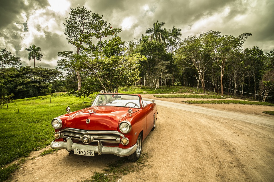 cuba, old car, forest   Stock Images Page   Everypixel