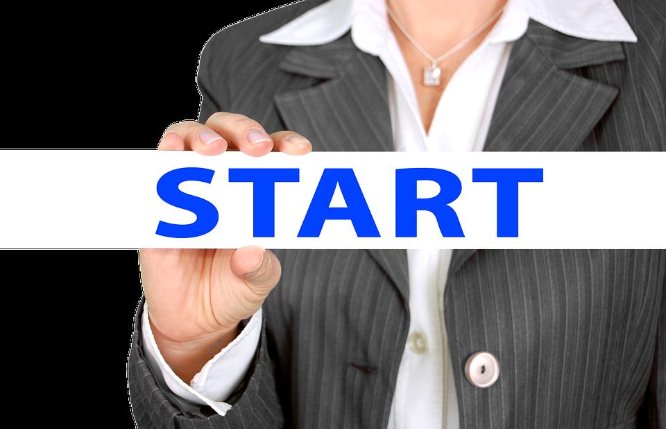 businesswoman, start, at the beginning