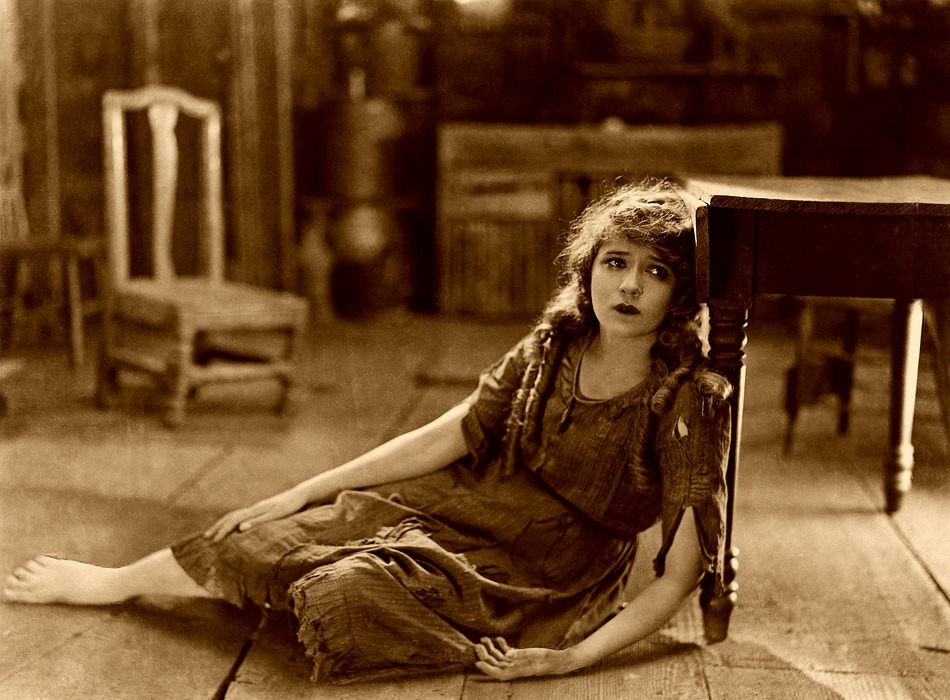 mary pickford, silent film, sad