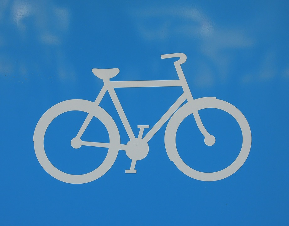bicycle, sign, blue