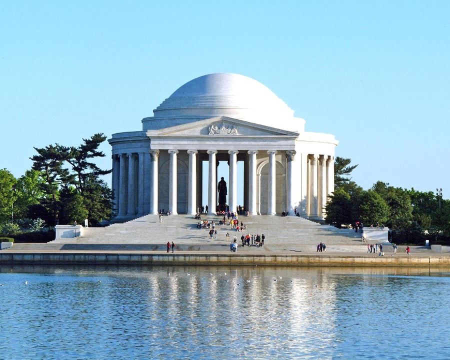 jefferson memorial, landmark, washington