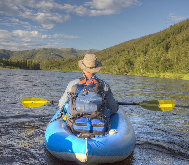 rafting, river, water