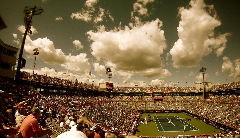 tennis court, tennis, stadium