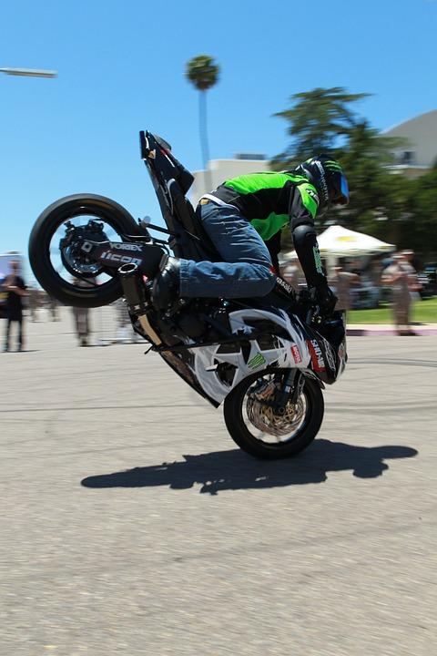 motorcycle, stunt, jump