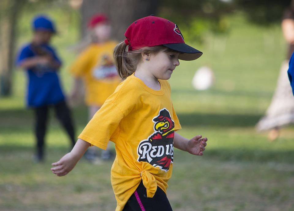 child, sport, softball