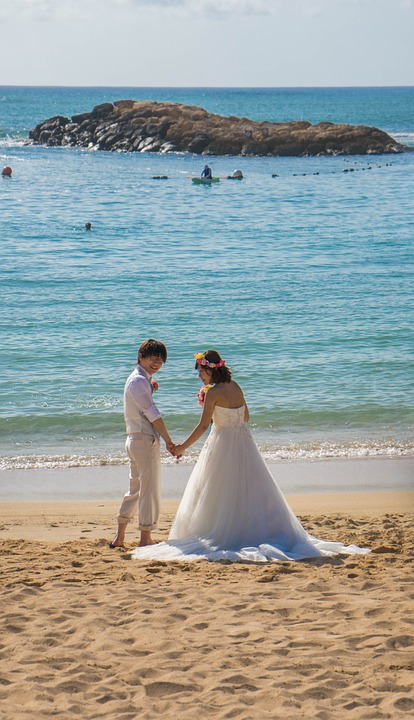 wedding, hawaii, beach