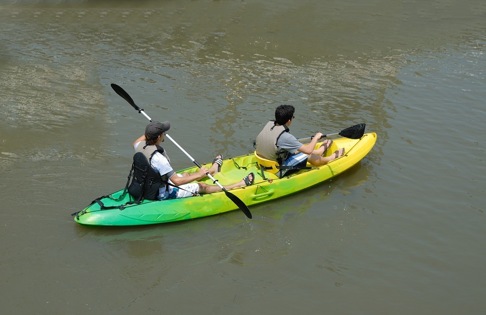 kayak, kayaking, people