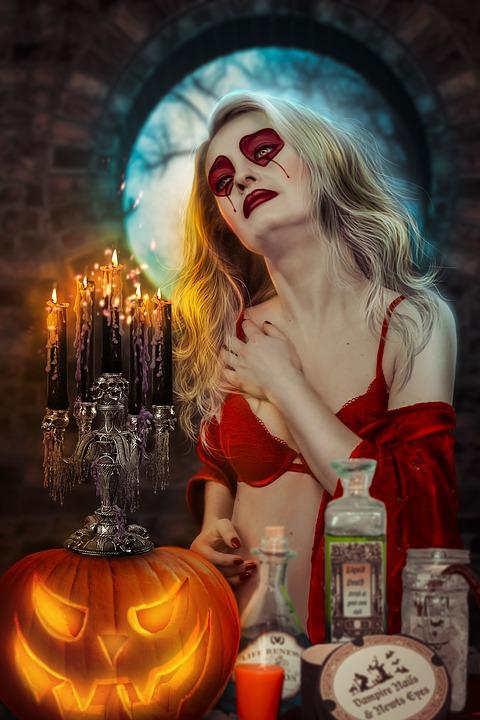 halloween, girl, mejk