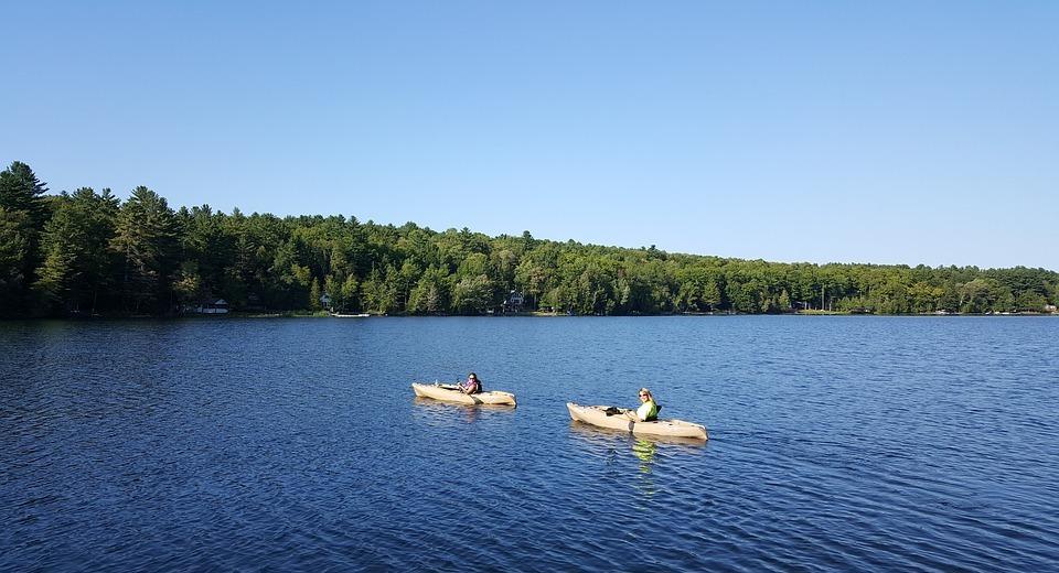 kayak, water, lake