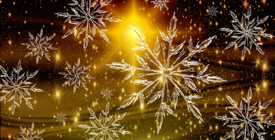 christmas, star, ice crystal