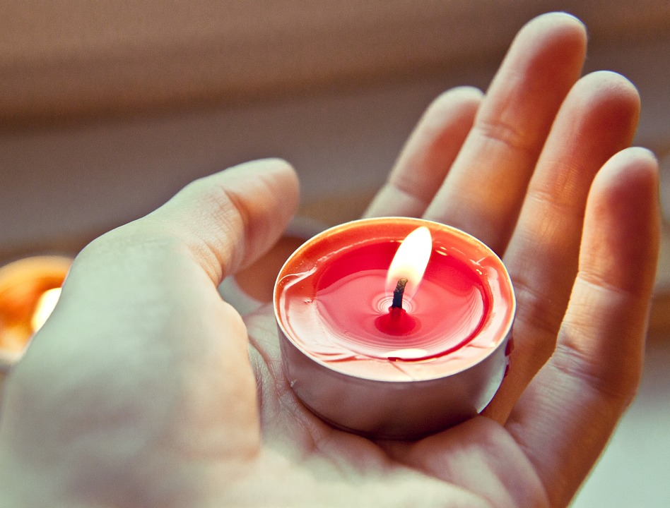 candle, tea light, burn