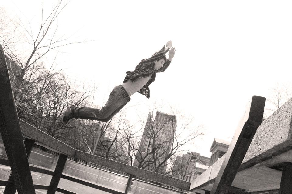 parkour, jump, toronto