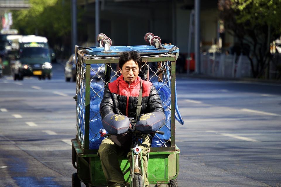 truck, men, chinese